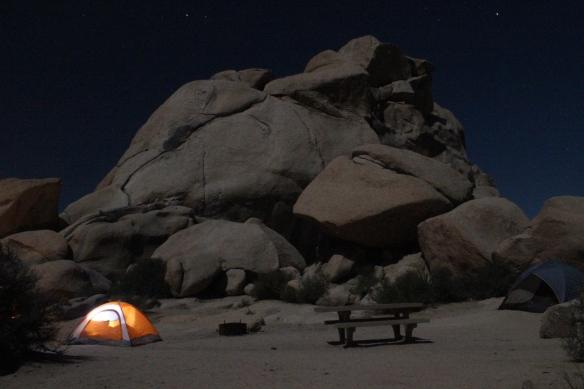 Nighttime Campsite
