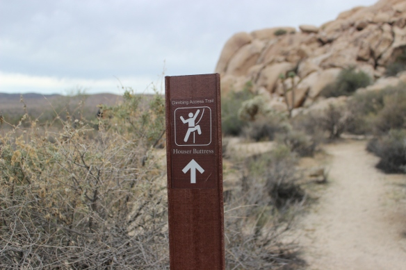 Houser Buttress Trail Sign